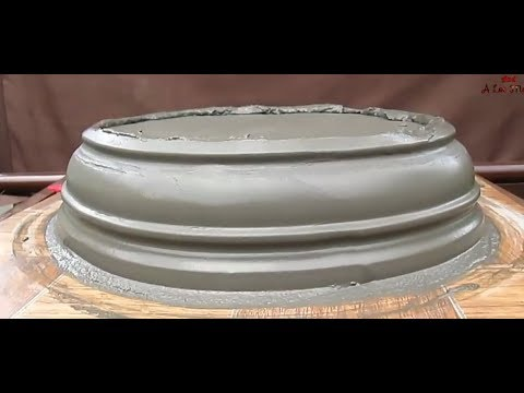 How to make bonsai pot using sand and cement