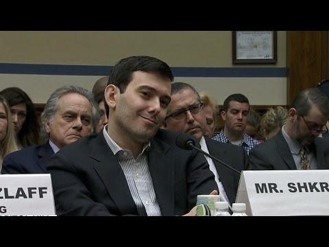 """Pharma Bro"" Martin Shkreli pleads 5th in Congress"