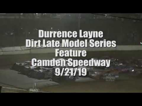 Durrence Layne Dirt Late Model Series Camden Speedway Feature 9-21-19