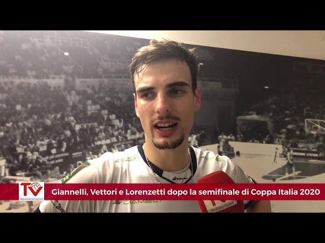 Giannelli, Vettori e Lorenzetti dopo la semifinale di Coppa Italia 2020