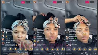 NBA Youngboy Sidechic B.Dollas LIVE Says She Wasn't With YB To Bre@kup With Him