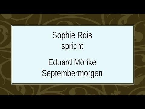 "Eduard Mörike ""Septembermorgen"