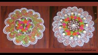 2 beautiful and unique rangoli designs using cookie cutters | Rangoli by Poonam Borkar