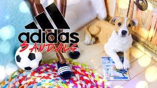 DIY - How to Make: Doll Adidas Sandals | EASY Quick Craft