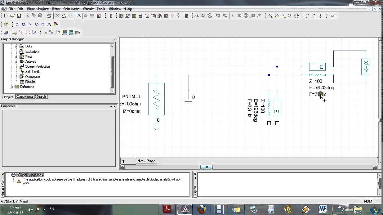 Ansoft Designer tutorial for beginners 3/3