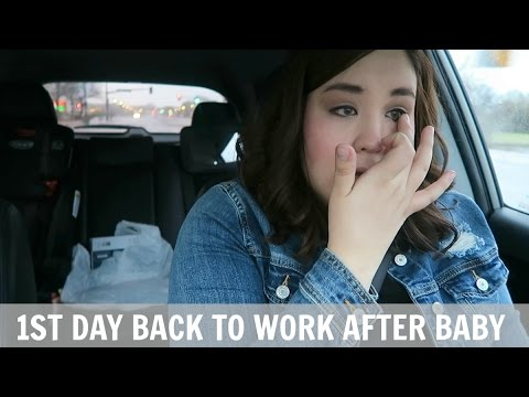 1st Day Back to Work After Baby | Full-Time Working Mom of 2