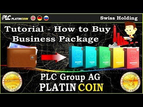 Tutorial - How to Buy a Business Package PlatinCoin PLC Group AG