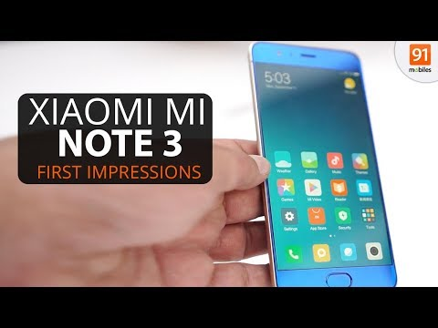 Xiaomi Mi Note 3: First Look | Hands on | Launch
