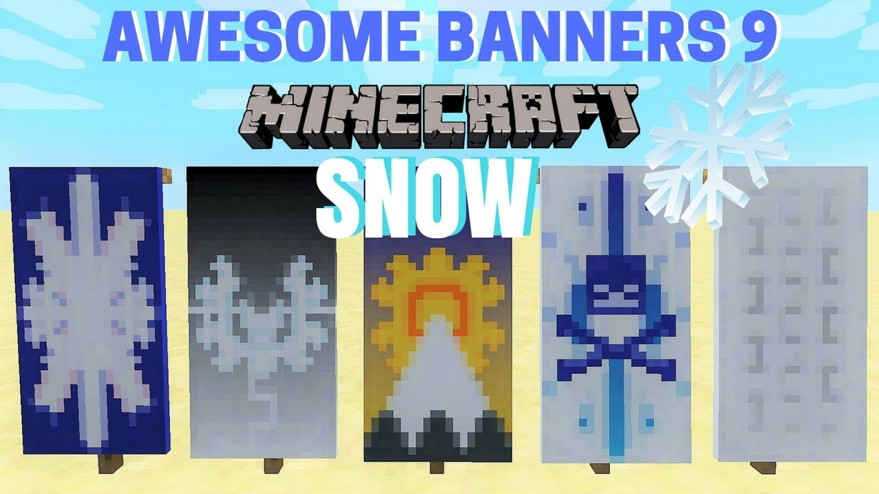 5 Awesome Minecraft Banner Designs With Tutorial 9 Youtube