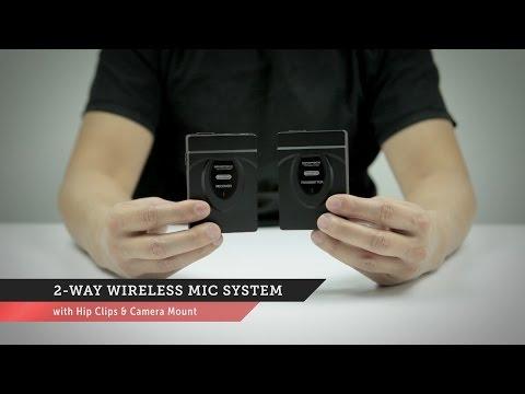 2-Way Wireless Mic System | Monoprice Quick Look