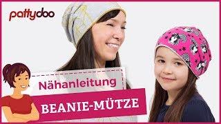 DIY Mütze nähen für Anfänger - Wendemütze, Beanie aus Jersey - pattydoo Schnittmuster thumbnail