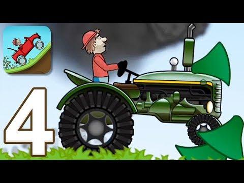 Hill Climb Racing - Gameplay Walkthrough Part 4 - Tractor (iOS, Android)
