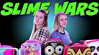 SLIME WARS || BOX OF LIES ||  BACK TO SCHOOL || Taylor and Vanessa