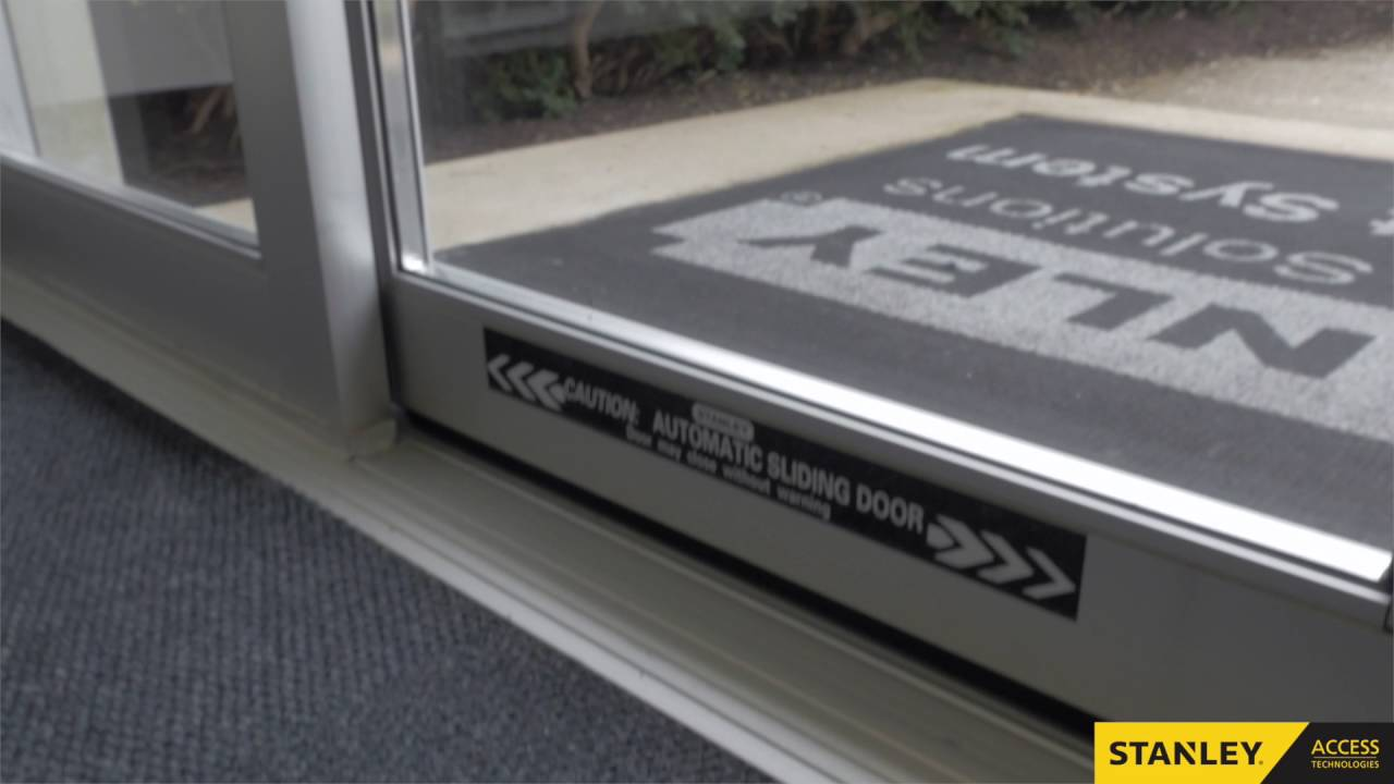 Daily Safety Check Stanley Automatic Sliding Doors Youtube