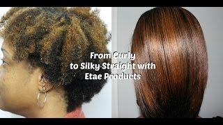 FLAWLESS Silky Straight Hair Routine on Type 4B Natural Hair with Etae Products!