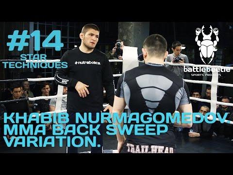 KHABIB NURMAGOMEDOV. MMA BACK SWEEP VARIATION - STAR TECHNIQUES # 14