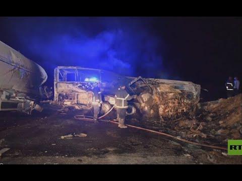 مصرع 20 شخصا في حادث حافلة أسيوط بمصر  - نشر قبل 3 ساعة