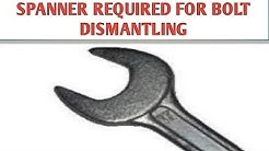 Spanner size for Bolts