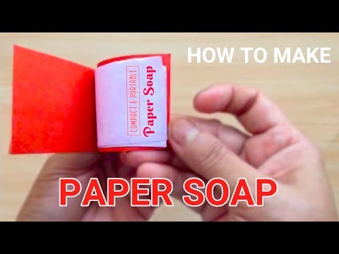 Paper Soap   How to make   DIY   MotherMade