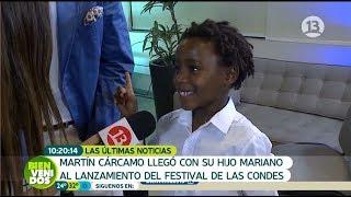 Hijo de Martín Cárcamo llamó la atención de la prensa   Bienvenidos