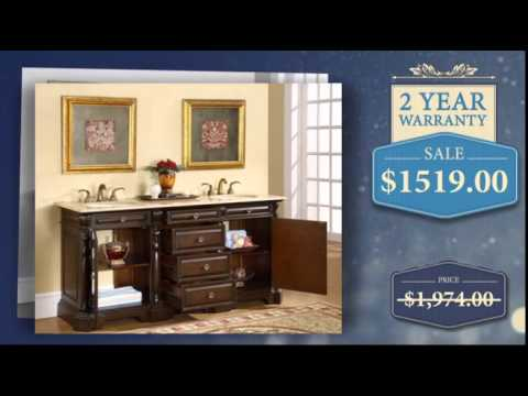 72-inch-double-sink-bathroom-vanity-with-travertine-countertop---uniquevanities.com