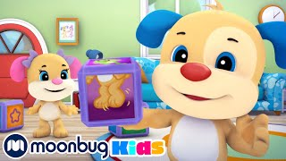 Learning About First Words | Laugh And Learn | ABC 123 Moonbug Kids | Fun Cartoons | Learning Rhymes