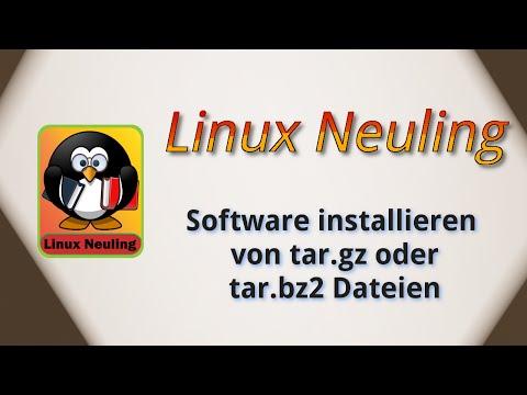 Ubuntu Software installieren von tar.gz oder tar.bz2 Dateien