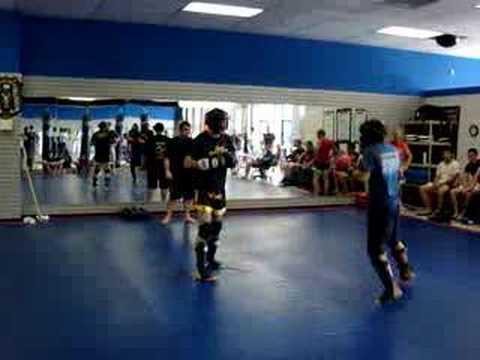 Phillip Muay Thai match round 1/3