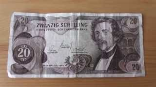 Old money of Austria - 20 Schilling from 1967