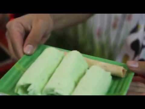 Kem cuộn kiwi-trà xanh