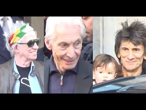 VIDEO Keith Richards Charlie Watts Ronnie Wood @ Paris 25 october 2017 The Rolling Stones octobre