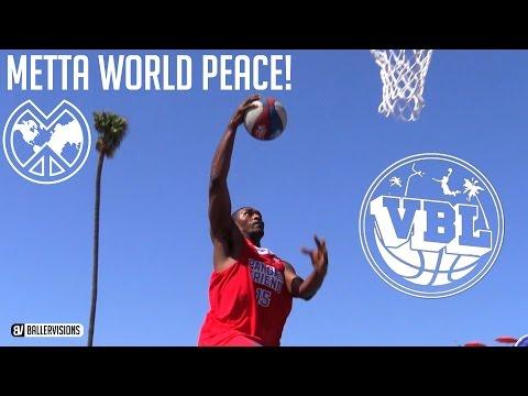 Metta World-Peace Balls At Venice Beach!   Formerly Known As Pandas Friend