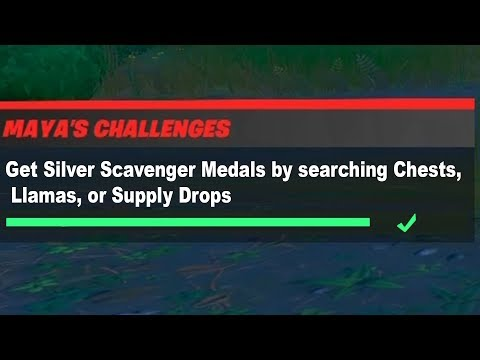 Get Silver Scavenger Medals By Searching Chests, Llamas, Or Supply Drops Fortnite