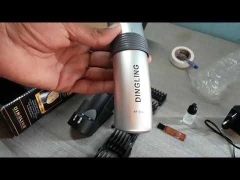 DINGLING Professional Hair Clipper Model RF-609 Unboxing,Reviews /Visitor TV /in Urdu/Hindi