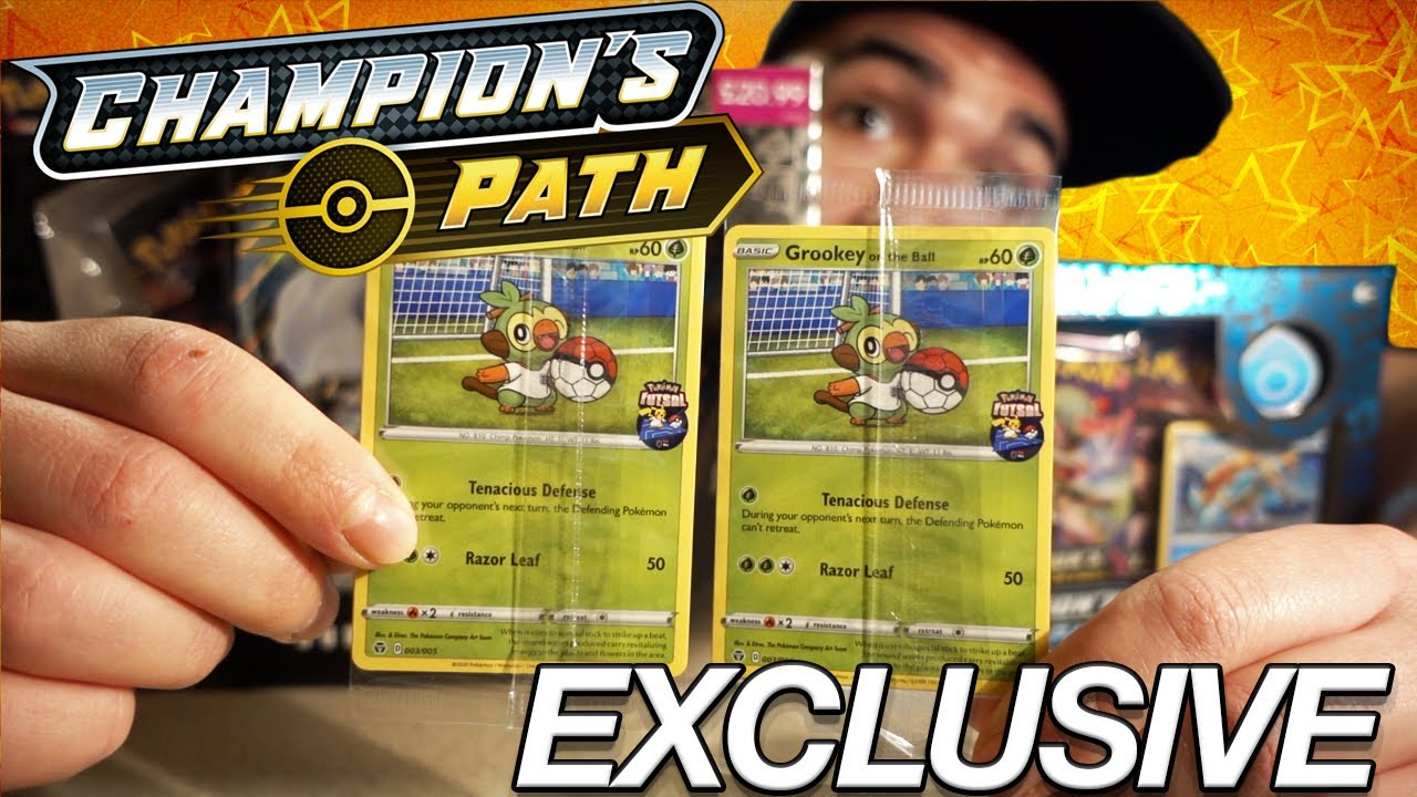 Champion S Path Opening Exclusive Uk Only Futsal Grookey On The Ball Youtube A free grookey with the grassy surge ability is available via pokemon 3poke ball effect and how to get it. youtube
