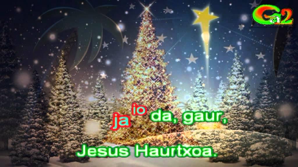 Canciones de navidad en euskera letra