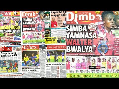 MICHEZO Magazetini 15/11/2017:Walter Bwalya Simba,KutinyuYanga,Ngoma Singida.