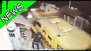 بالفيديو.. لصوص يسرقون ملايين العملات من سيارة مصفحة