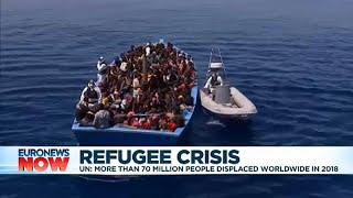 EU leaders address migration at summit following UNHCR refugee report