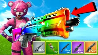 NEW RAINBOW GUN GAME!! - Fortnite Battle Royale