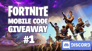 Fortnite Mobile - Beta Code Giveaway (Discord) #1
