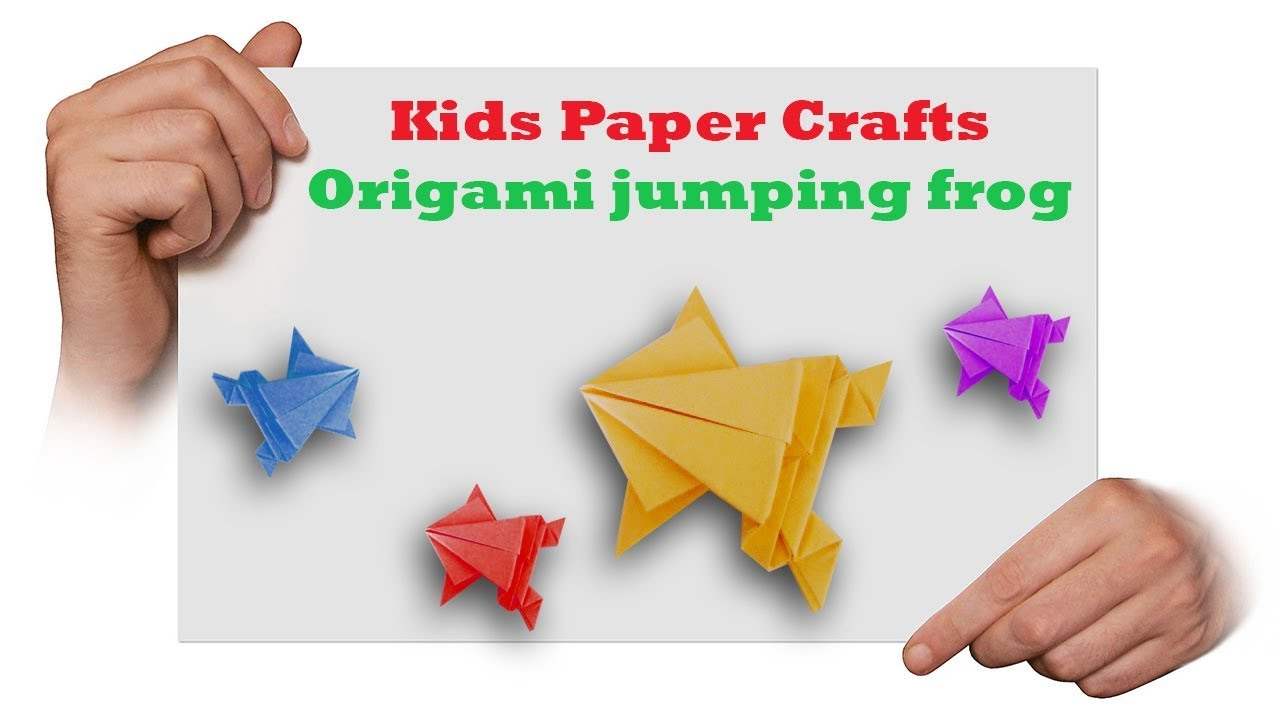 Origami Jumping Frog 🐸(Easy Origami Tutorial ) - YouTube | 720x1280