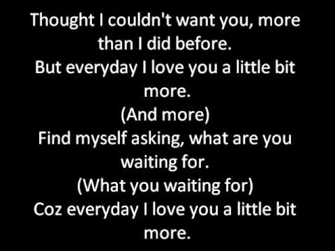 I love you more everyday lyrics