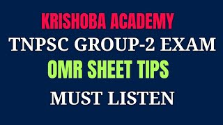 OMR SHEET DOUBTS AND SOLUTIONS FOR GROUP-2 PRELIMS EXAM