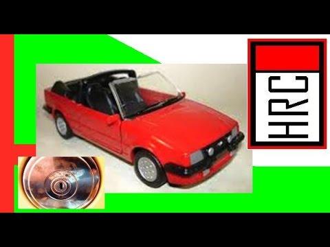 HRC - Ford Escort XR3 1992 Conversível Ghia. Miniatura de Carro Esportivo dos Sonhos do Brasil