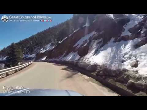 Scenic Drive through Crystal Park in Manitou Springs, Colorado