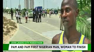 Pam and Pam emerge first Nigerian man, woman to finish Lagos City Marathon 2018