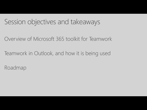 Group collaboration in Microsoft Outlook - BRK2252