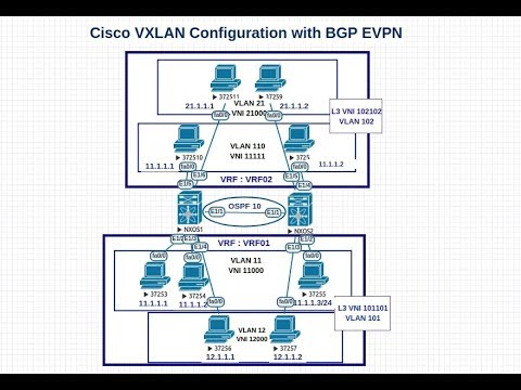 VxLAN BGP EVPN | Part 1/5 | Cisco Nexus 9000 Configuration example Control  plane learning