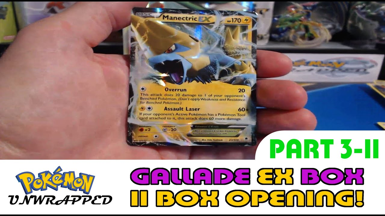 Gallade ex box opening series part 3 11 pokemon unwrapped youtube
